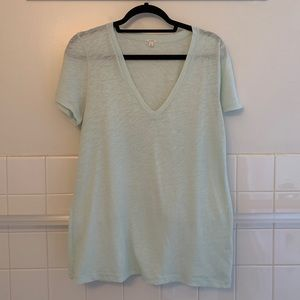 J.Crew Cotton V-Neck Tissue Tee
